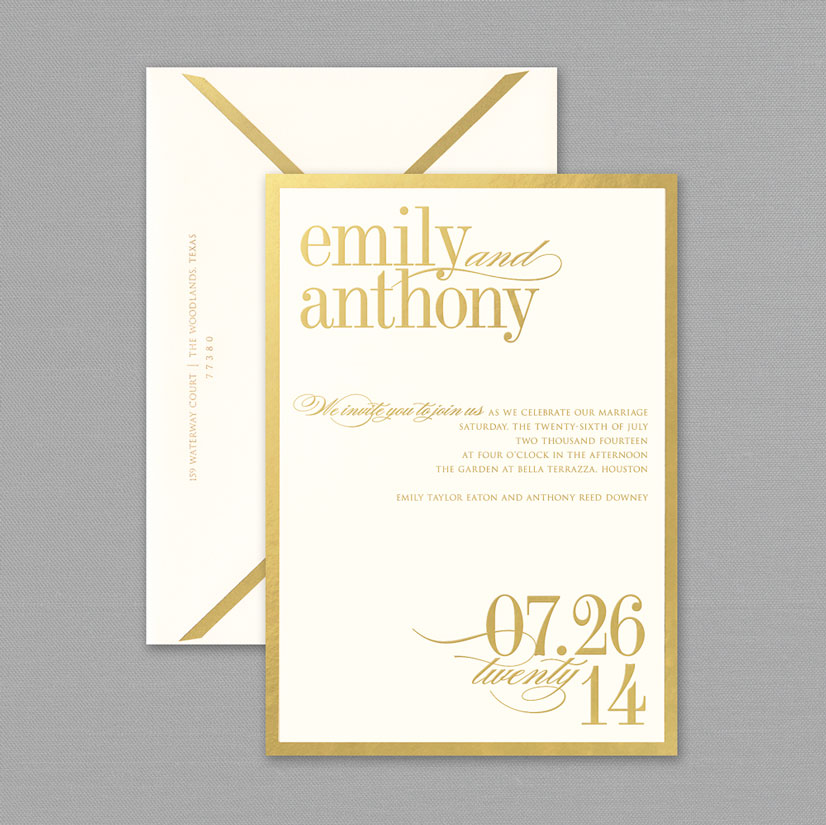 Austin Wedding Invitations From Paper Place