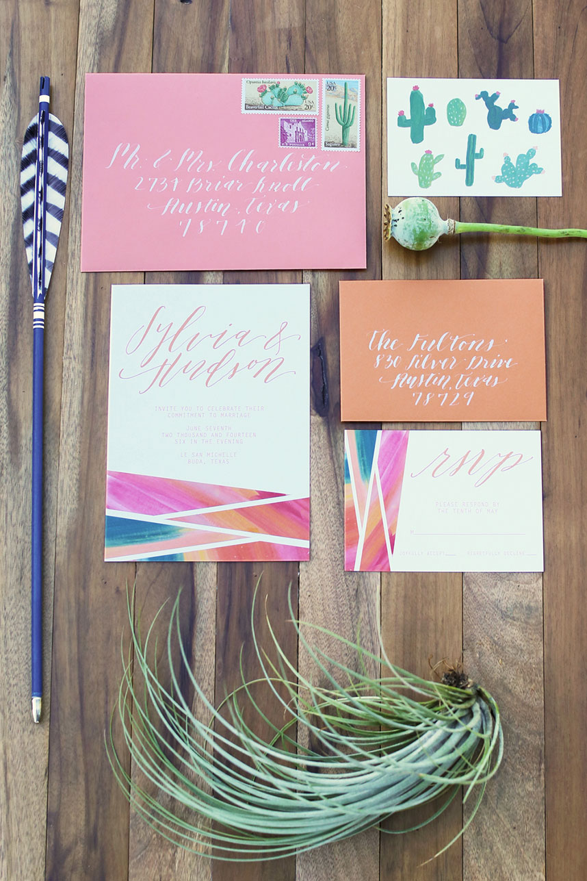 austin wedding calligraphy