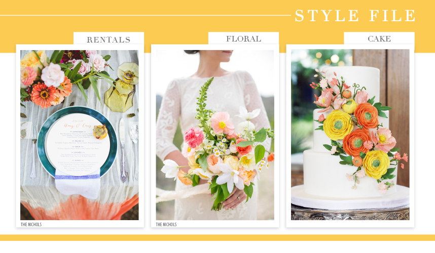 colorful austin wedding inspiration