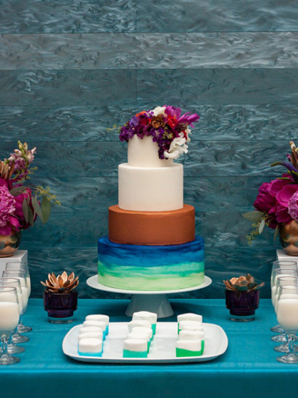 colorful wedding cakes from austin cake artists. Black Bedroom Furniture Sets. Home Design Ideas
