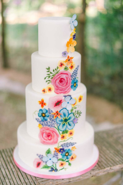 Colorful Wedding Cakes From Austin Cake Artists