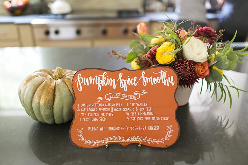 pumpkin spice smoothie