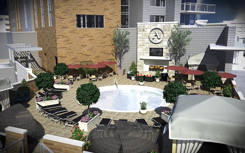 Archer Austin Pool Deck Aerial