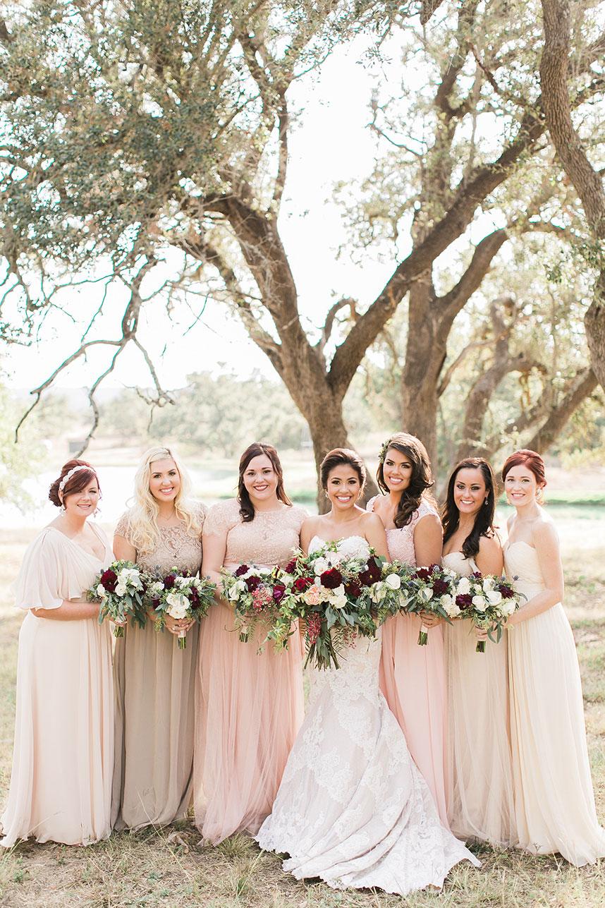 Wedding trend neutral bridesmaid dresses blushforbridalmint ombrellifo Gallery