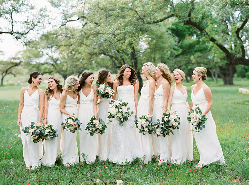 Wedding Trend Neutral Bridesmaid Dresses