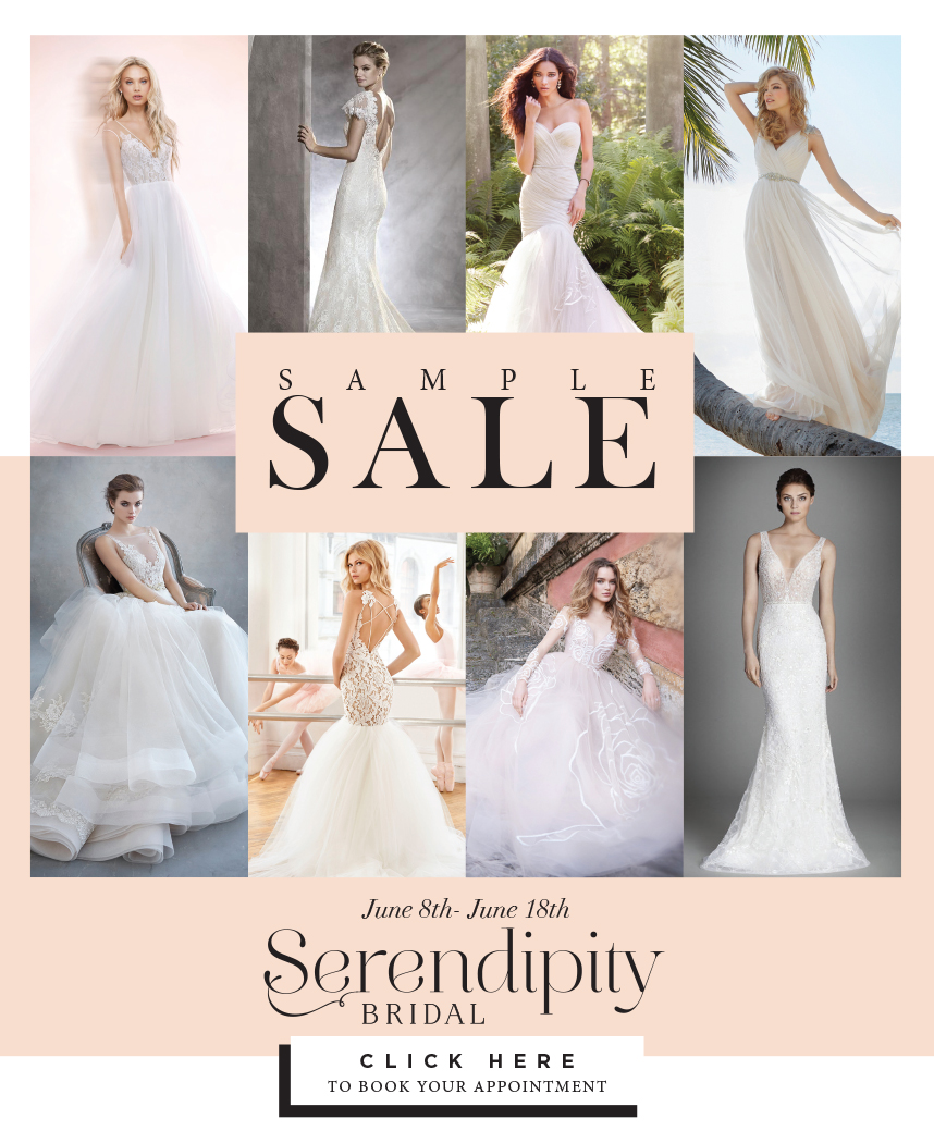 Book your Appointment for Serendipity Bridal\'s Sample Sale!
