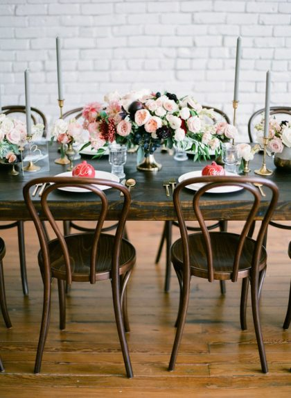 Trendy Romantic Wedding Inspiration from Bespoke Events