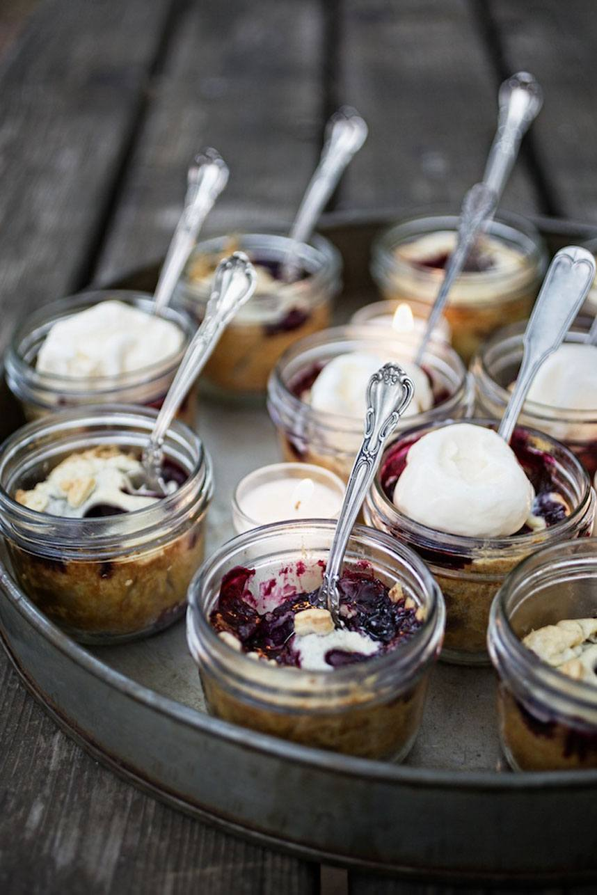 Blueberry Mason jars on picnic table Jody Horton Photography tinypies