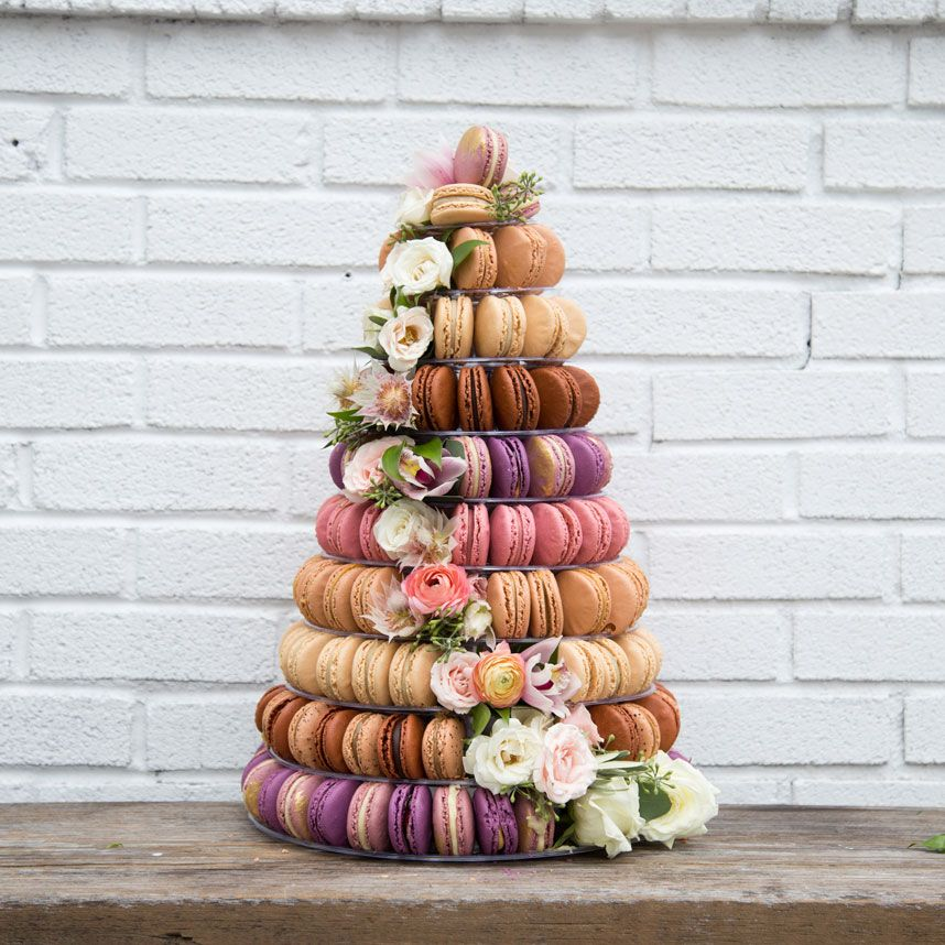 austin wedding cakes macaron tower from woops bakery