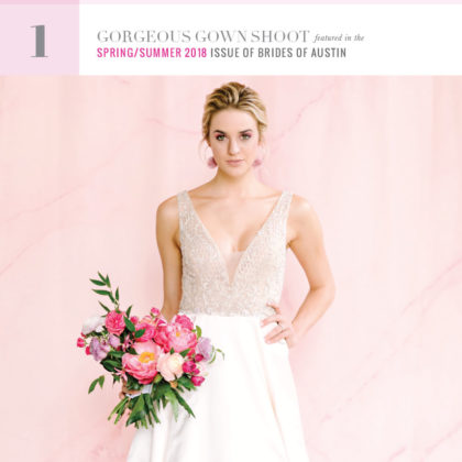 countdown to the cover brides of austin gown shoot