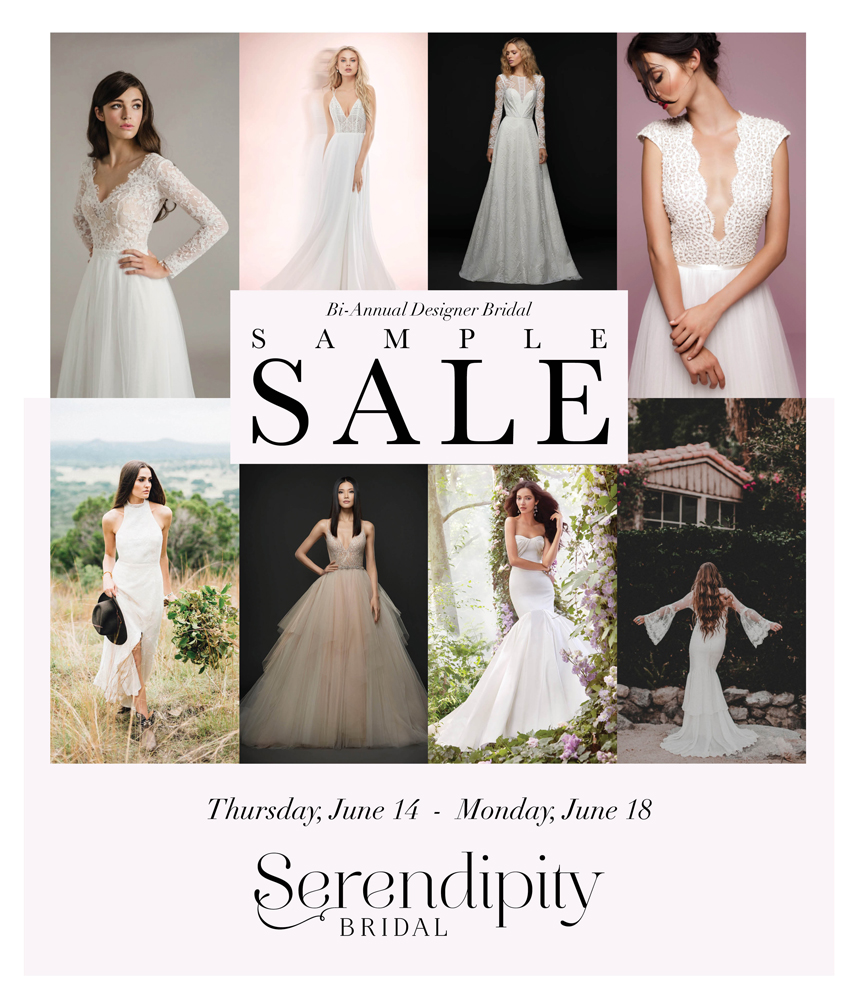 serendipity bridal bi-annual designer bridal sample sale