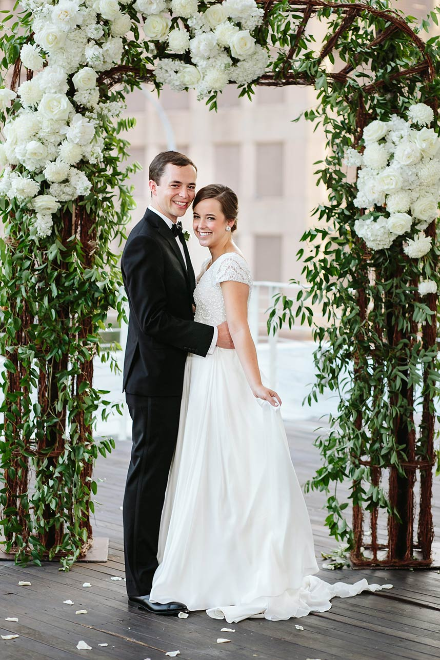 Allyson Jones Weds Austin Clayton Lush Greenery-Filled Wedding at Brazos Hall by Pearl Events Austin