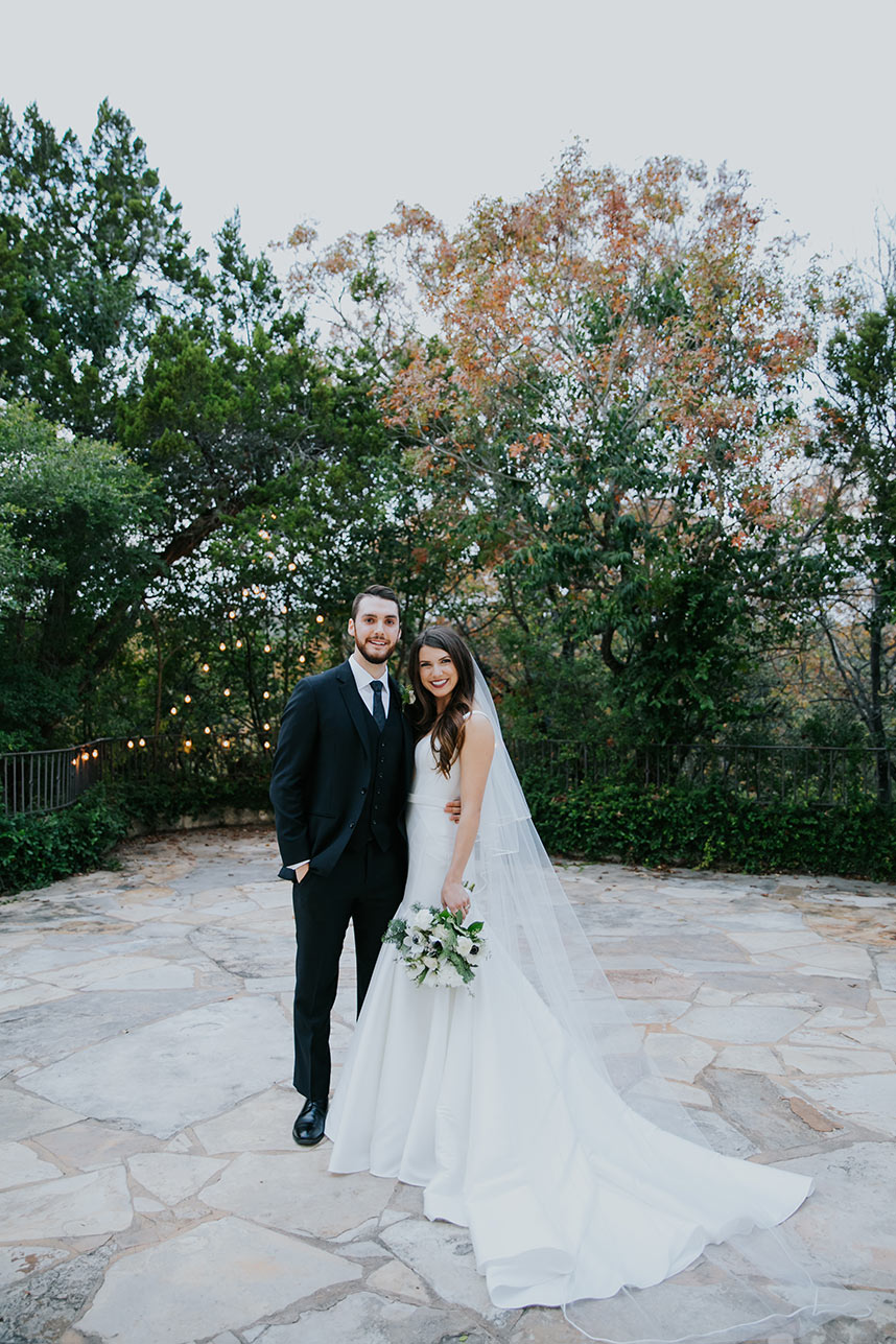Haley Gooch Weds Michael Neid Outdoor Garden Austin Wedding