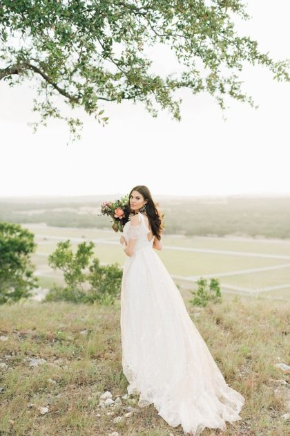 Hill Country Charm Color Collab Austin Wedding Venue Mustang Waters Ranch Austin Wedding Photographer Feather and Twine Photography