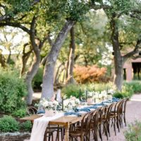 Blue-Hued Al Fresco Affair by Sweet Laurel Events
