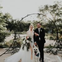 Sara Karrow Weds Otis Hunter Eclectic Sunlit Austin Wedding at Lady Bird Johnson Wildflower Center