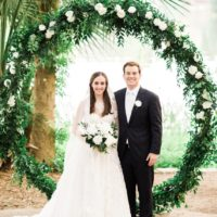 Catherine Chlebowski Weds Gregory Henson Fresh Neutral Outdoor Wedding at The Contemporary Austin at Laguna Gloria