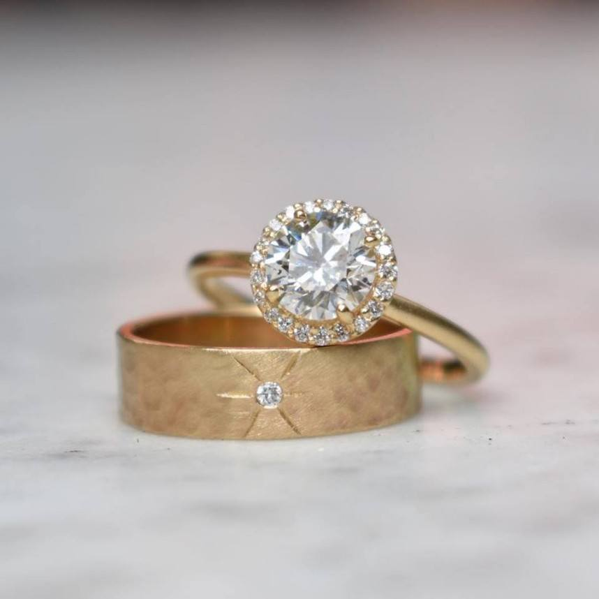 5 Gorgeous Engagement Ring and Wedding Band Pairings from Eliza Page