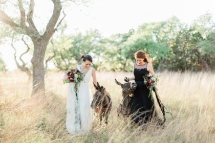 Edgy Bridal Inspo for the Non-Traditional Bride by Olive + Belle Events