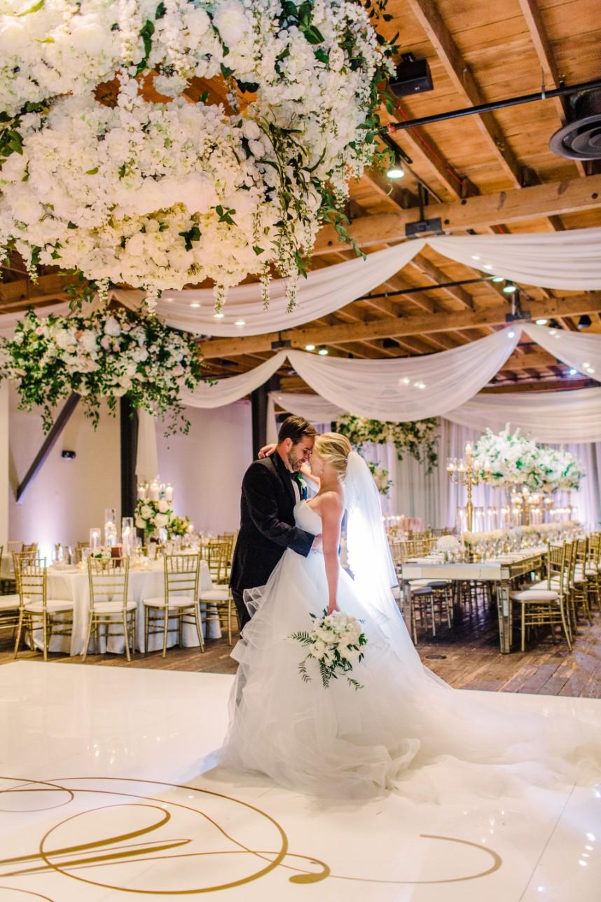 Erin Strasburger Weds Matthew LeDoux Romantic Floral Filled Brazos Hall Wedding