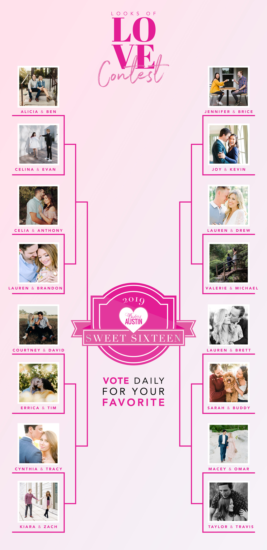 Looks of Love Contest 2019 – Cast your vote for our Sweet 16 Finalists!
