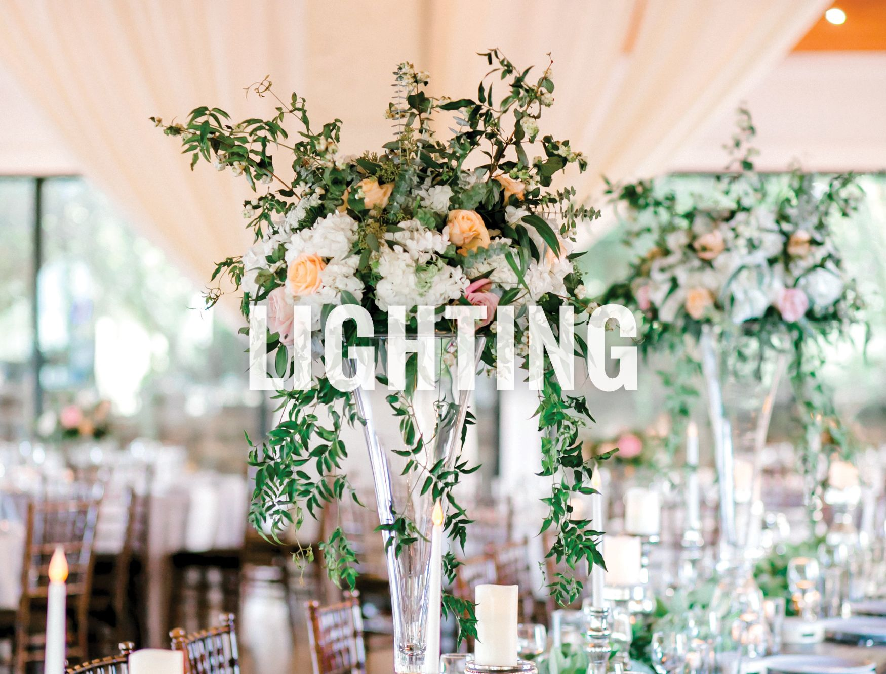 Austin wedding lighting