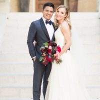 Morgan Turner Weds Alex Marquez Navy and Crimson Wedding from Pearl Events Austin