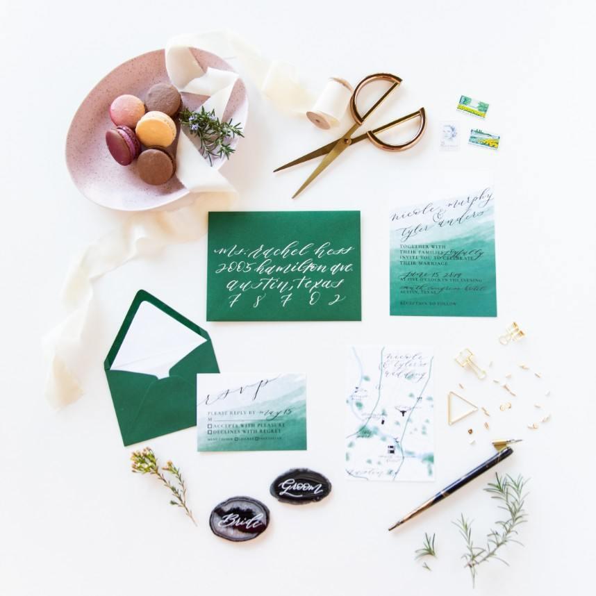 invitation suite by austin invitation designer design to flourish