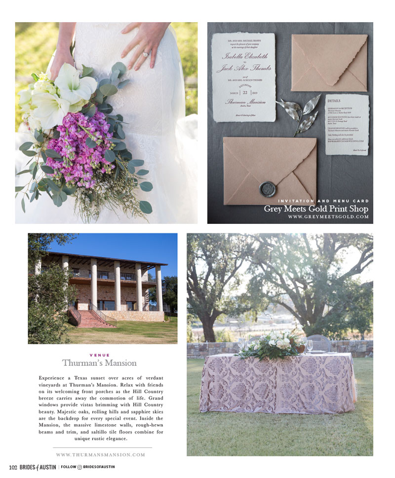 brides of austin magazine page
