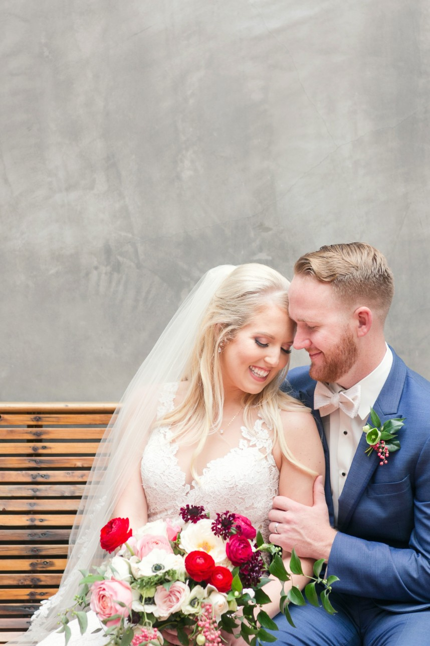 Elizabeth Smith Weds Tyler Martin Candlelit Industrial Wedding from Westcott Weddings