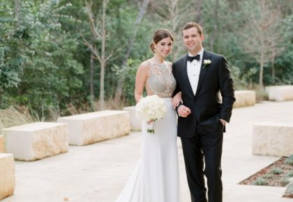 Jessica Flores Weds Luke Davis Elegant Ballroom Wedding from Pearl Events Austin