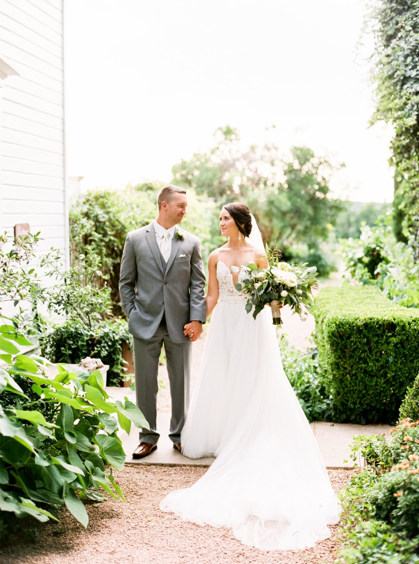 Kailee Hansmire Weds Jaylon Roberts Greenery Filled Wedding at Barr Mansion from Mint Photography