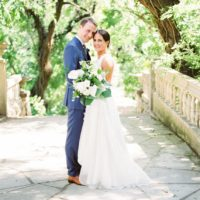 Ann Moenius Weds Erik Person Tropical Organic Wedding at The Contemporary Austin at Laguna Gloria