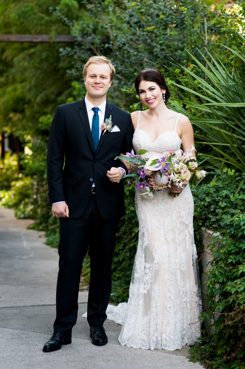 Angela Blevins Weds Clemens Canel Tropical Neon Austin Wedding from Cory Ryan Photography