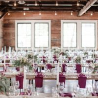 berry-hued tablescapes