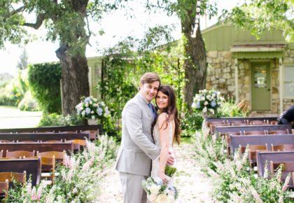 Christine Tolson Weds Gordon MacDonald Charming White Wedding at Pecan Springs Ranch