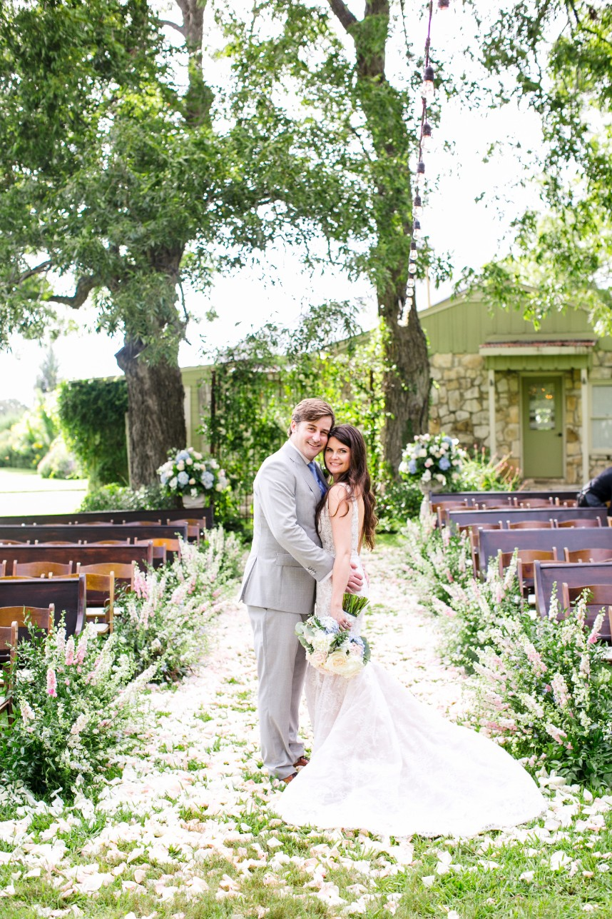 Christine Tolson Weds Gordon MacDonald Charming White Wedding at Pecan Springs Ranch