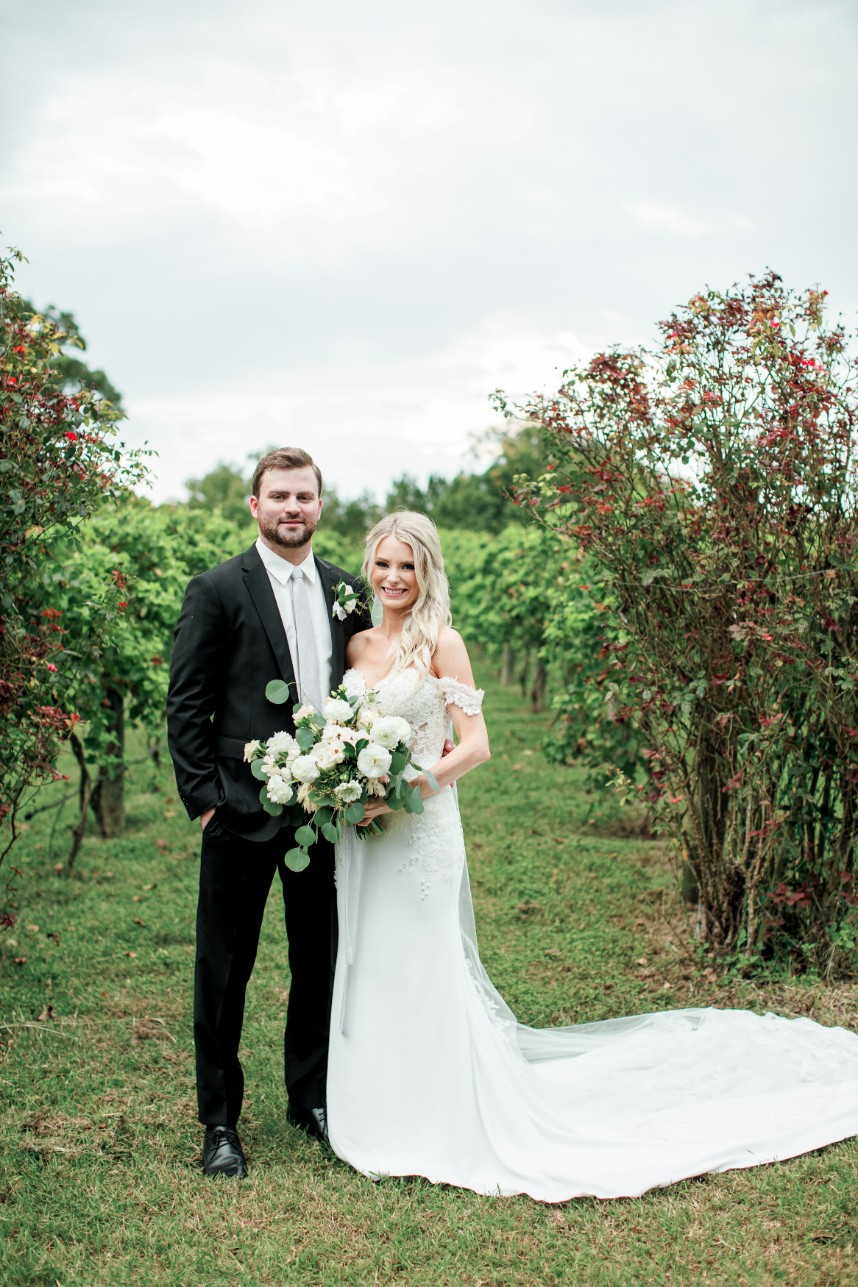 Ally Feezel Weds Eric Samouce Romantic Outdoor Vineyard Wedding Captured by Honey Gem Creative
