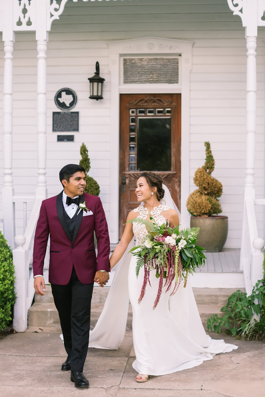 An Ho Weds Justin Guevara Whimsical Woodland Inspired Wedding at Barr Mansion