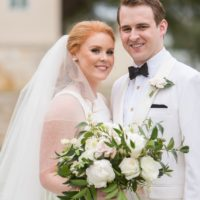 Glynis Ewing Weds Jase Burner Romantic Black Tie Austin Wedding from Eclipse Event Co.