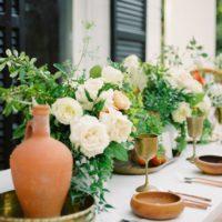 organic terracotta wedding scenes at the woodbine mansion