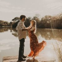 sunkissed waterfront engagement session from nikk nguyen photo