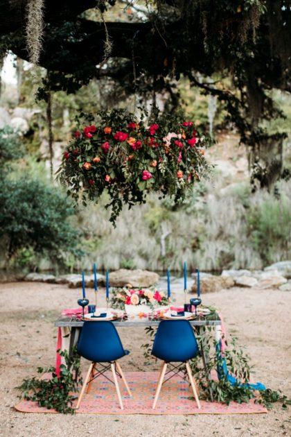 bold jewel-toned wedding inspo at hidden falls