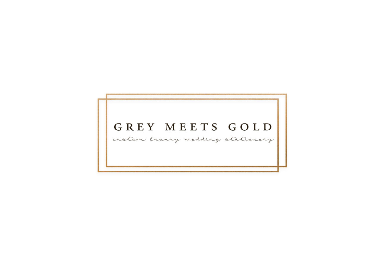 Grey Meets Gold - Austin Wedding Invitations