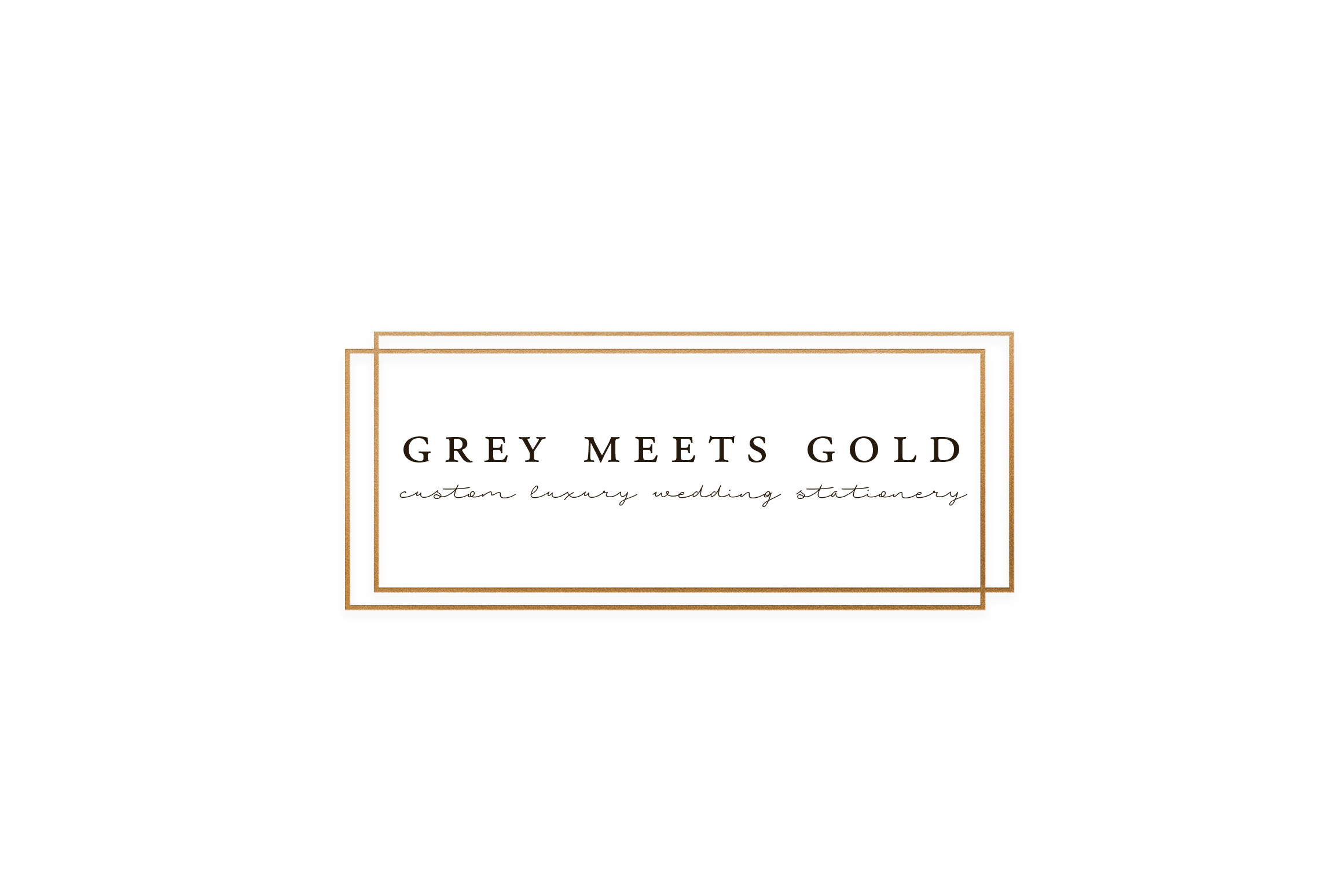 Grey Meets Gold Invitations