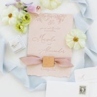 silk ribbon invitation