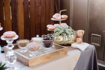the cupcake bar doughnut bar