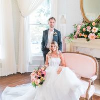 Cheery Romance Austin Wedding Venue Woodbine Mansion Austin Wedding Florist Remi and Gold