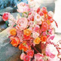 bold floral installation