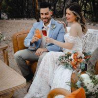 Woodsy Wedding Scene Austin Wedding Venue Lucky Arrow Retreat Austin Wedding Bartending Elevate Bartending